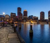 Boston skyline by night in Massachusetts - Lumle holidays