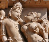 Vishnu and Lakshmi embracing in Hindu temple sculpture - Lumle holidays