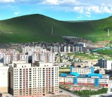 The panoramic view of the entire city of Ulaanbaatar, mongolia