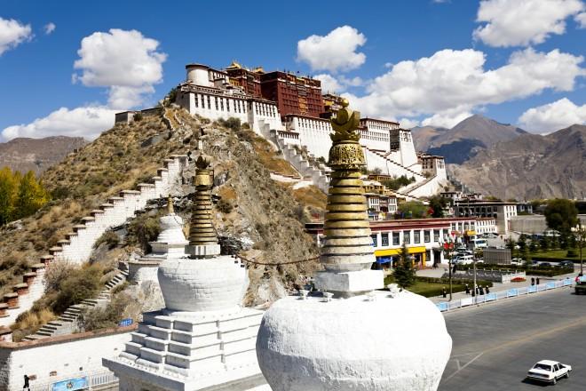 Potala Palace at Lhasa, Tibet