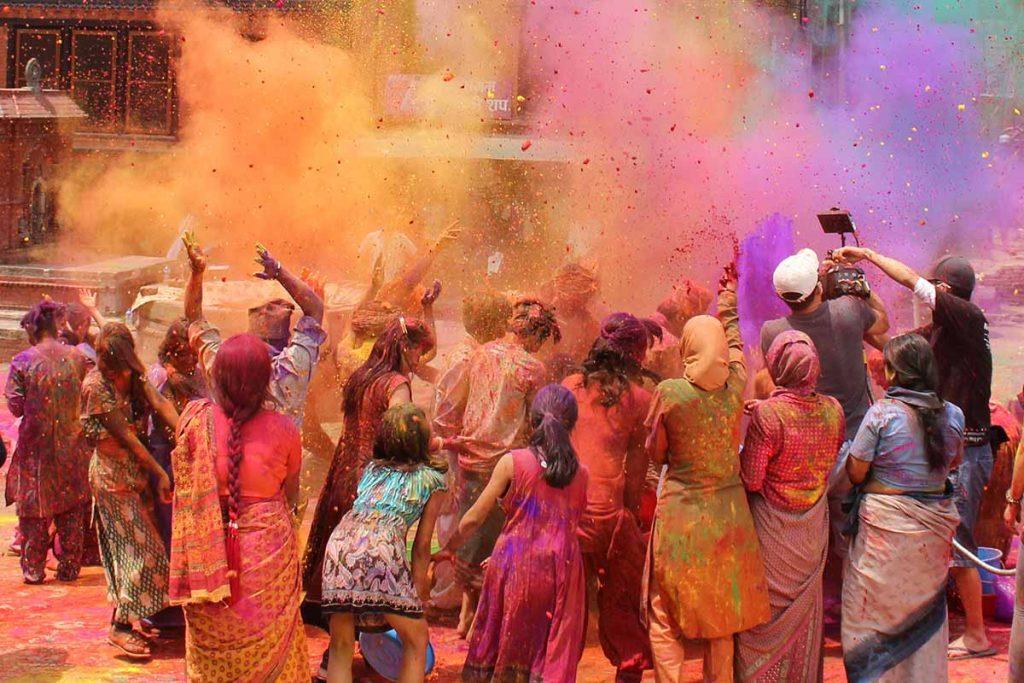 Celebration of Holi Festival in Nepal - Lumle Holidays